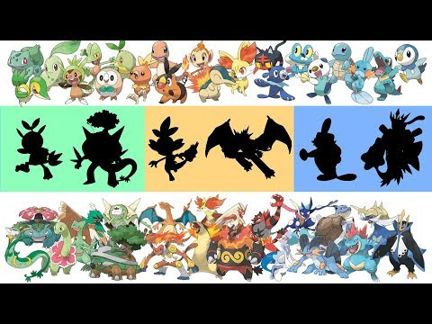 Pokemon Fusion Requests: All Grass Type, Fire Type, Water Type Pokemon Evolutions Gen 1-7