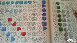 Word Search And Color - Gemstone Party - Ironstone