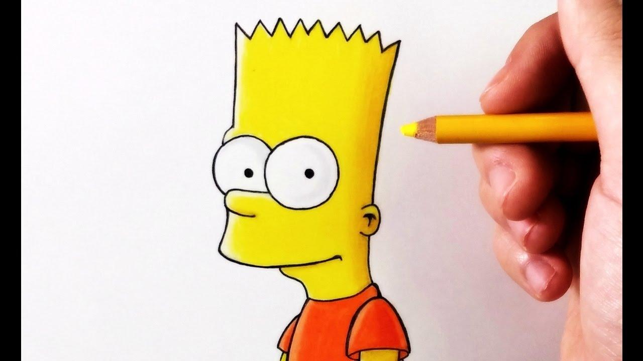 Dibufácil Aprende A Dibujar A Bart Simpson Paso A Paso
