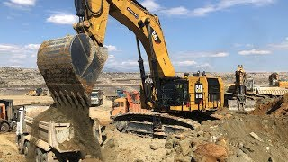 Cat 6015B Excavator Loading Trucks - Sotiriadis Brothers