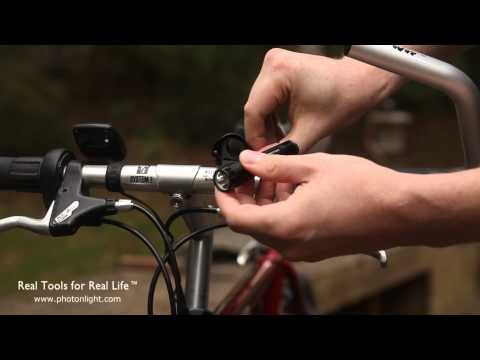 Twofish Lockblocks Flashlight Holder - A Solid, Easy-to-use Flashlight Bike Mount.