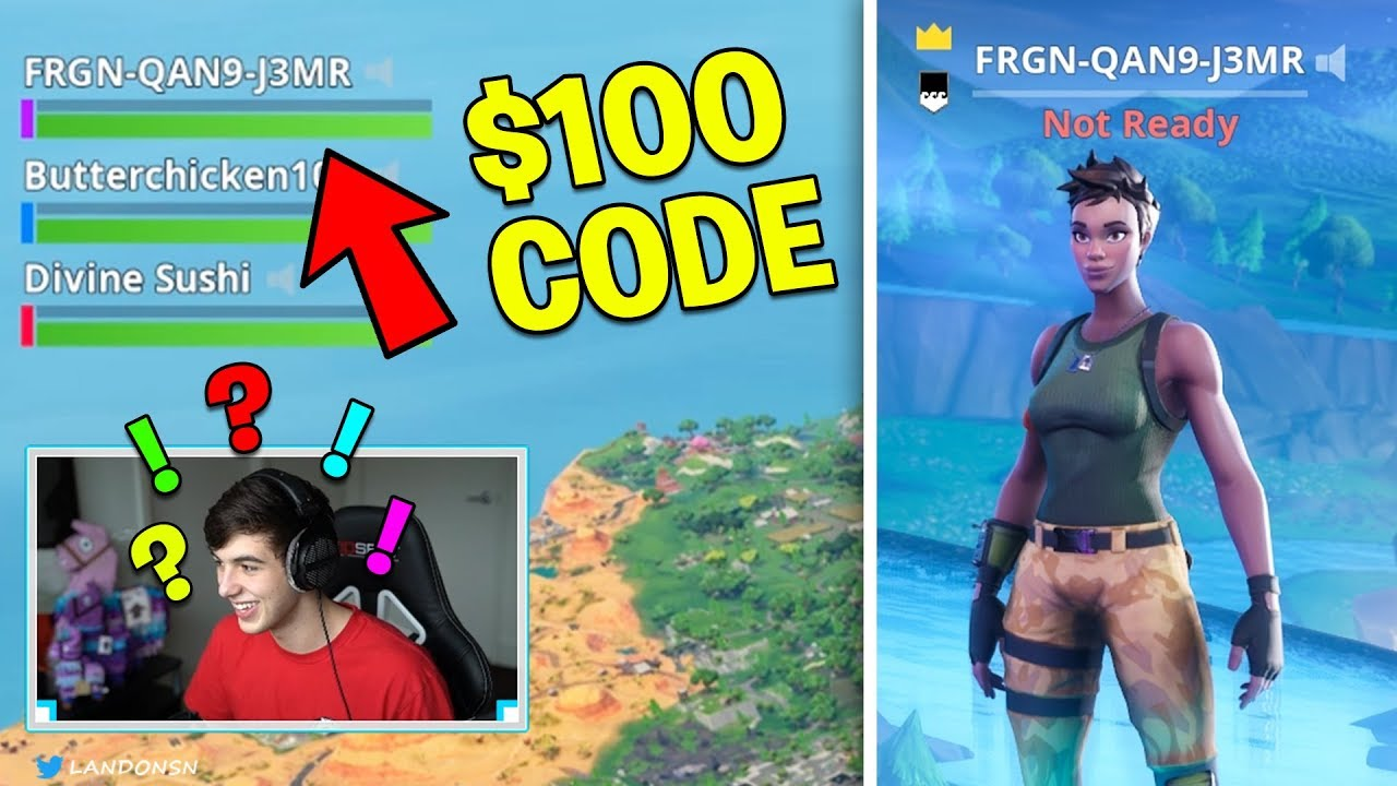 """I put Real """"Free V Bucks Codes"""" in my Fortnite IGN.. (FUNNIEST REACTION YET) - YouTube"""