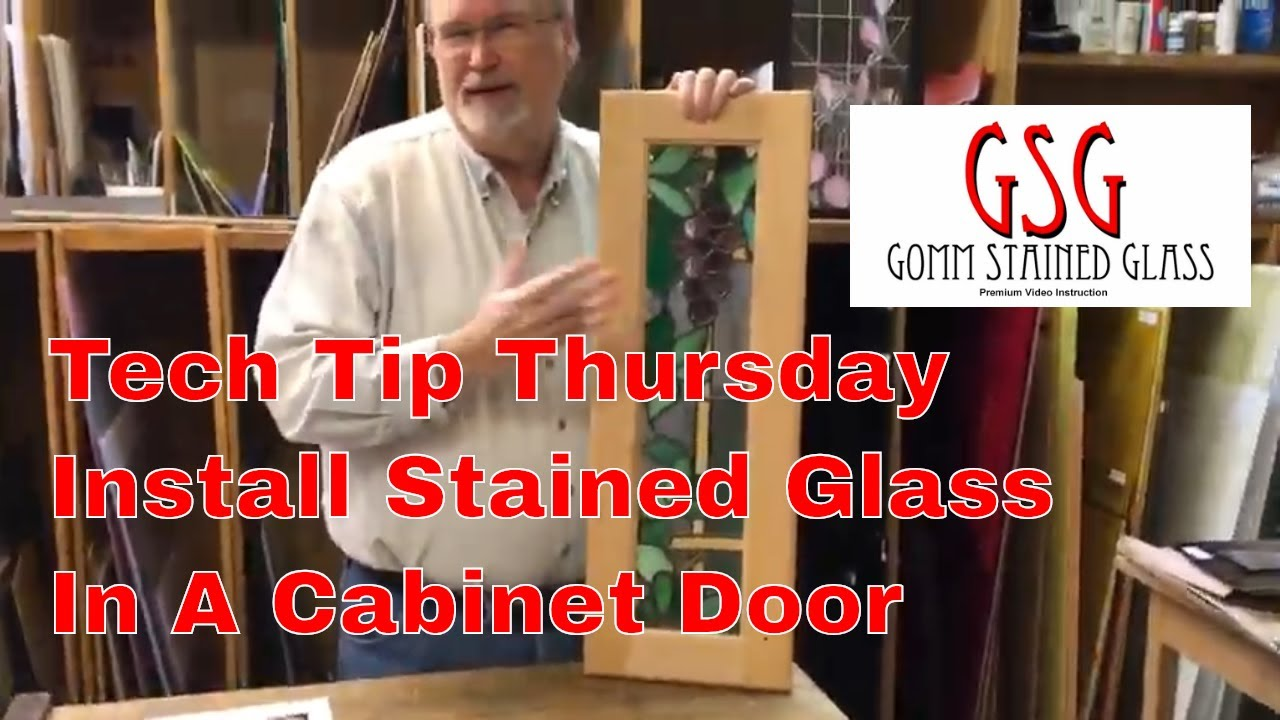 Installing Stained Gl In A Cabinet