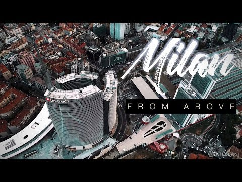 Gae Aulenti Square, cinematic footage of Milan's skyscrapers in 4k