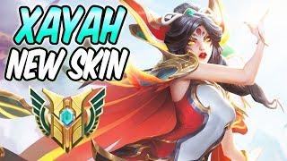 BRAVE PHOENIX XAYAH ADC - New Amazing Skin Gameplay Diamond Guide | Build & Runes -League of Legends