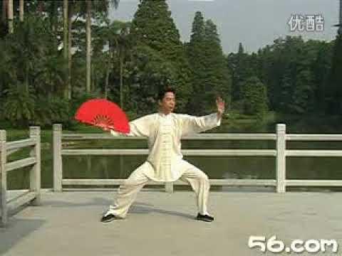 KOU-太極拳器械・陳式太極扇24式(王二平) - YouTube