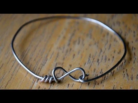 Diy Wire Infinity Heart Bracelets
