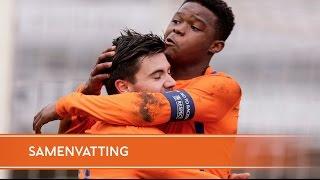 Highlights Onder 17 - Italië (19-03-16)