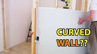 How I built my first curved wall - spoiler, it turned out great!