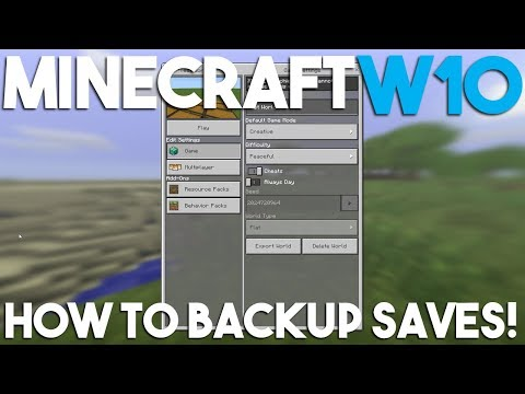 How to Backup a World in Minecraft Windows 10 Edition! - YouTube