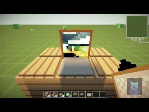 Como hacer cosas en minecraft ep 1 mini lap top for Como hacer muebles en minecraft