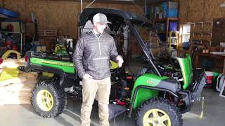 John Deere Gator 825i Overview with Accessories