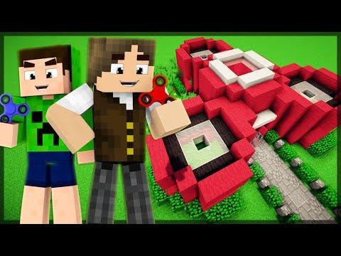 Minecraft: QUEM CONSTRÓI A CASA DE FIDGET SPINNER MAIS BONITA?!
