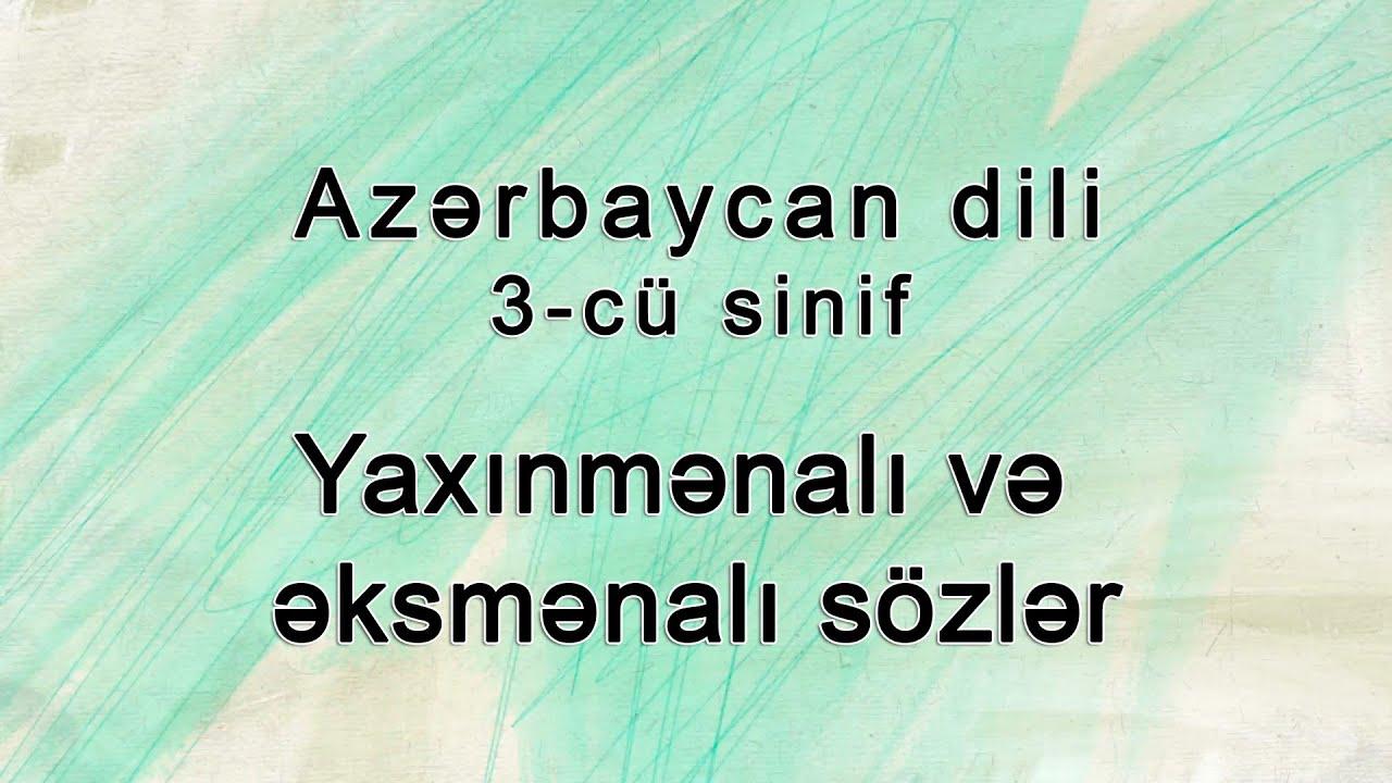 Antonim və ya əksmənalı sözlər - Uşaqlar üçün (Azərbaycan dilində öyrədici cizgi filmlər)