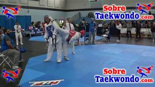 Formidable pelea de Taekwondo; Shaun Clark y Luis D. Espinosa + 87 kg.