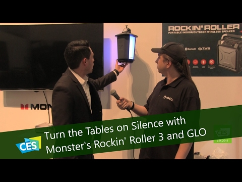 Turn the Tables on Silence with Monster's Rockin' Roller 3 and GLO Speaker at CES 2017