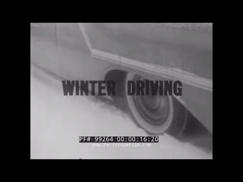 WINTER DRIVING  1950s DRIVER EDUCATION & TRAINING FILM   ICE & SNOW  TIRE CHAINS 99264