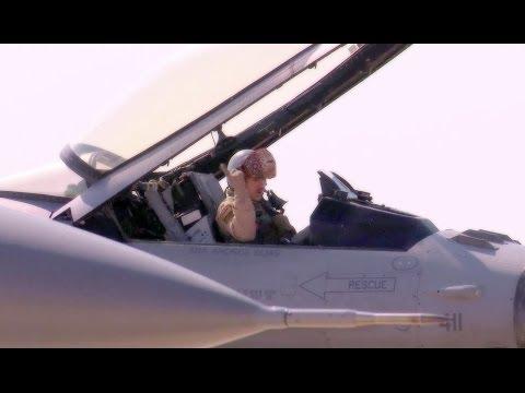 Jordanian Air Force F-16s, USAF F-16s & F/A-18s in Falcon Air Meet