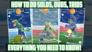 How To Do Solos, Duos, And Trios Against Raid Bosses In Pokemon Go!