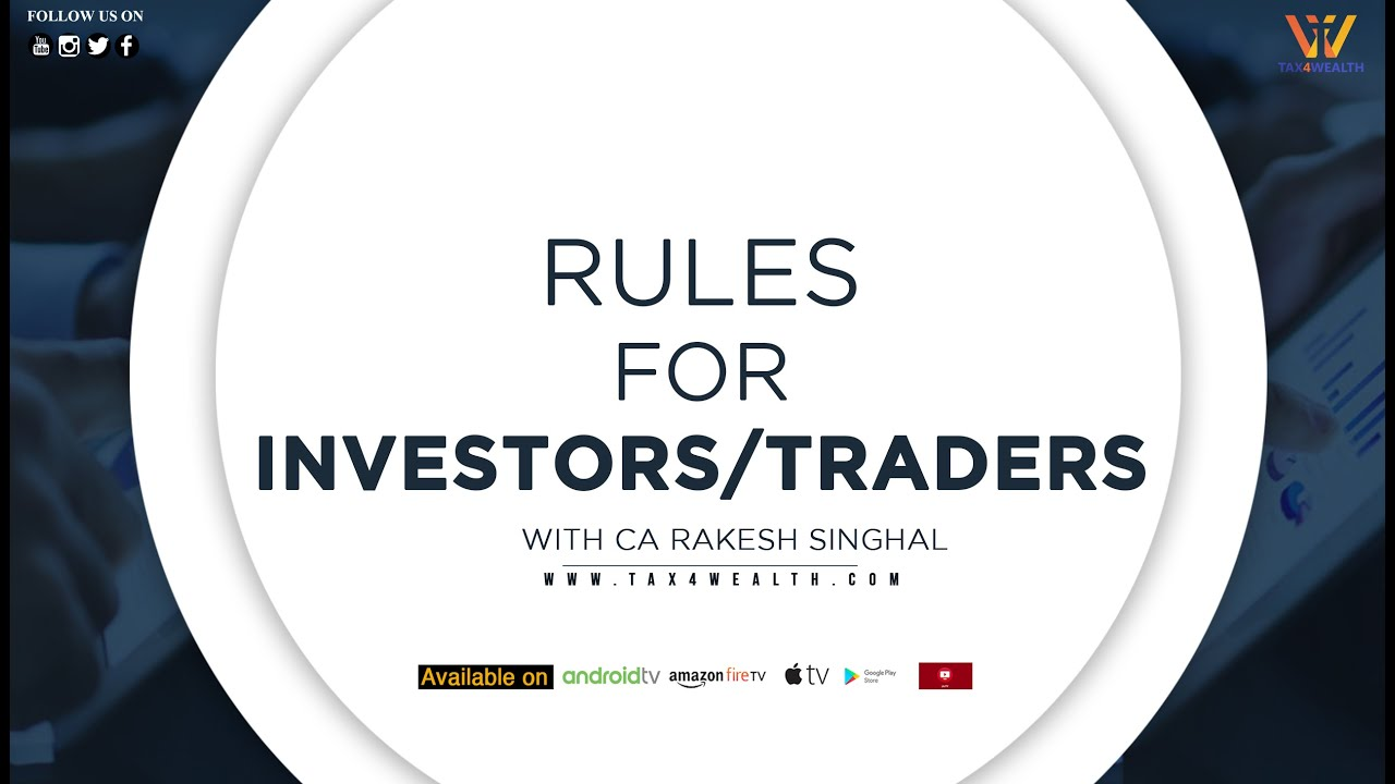 ''Rules for Investors/ Traders in Stock Market'' with CA Rakesh Singhal