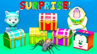 Opening Surprise Treasure Chests and Toys with the Assistant