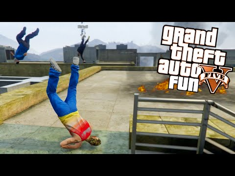 GTA 5 Next Gen Fun - Lui's Bounty, Jerry Can Launch, Bad Swimming (Grand Theft Auto V Funny Moments)