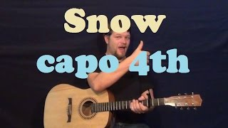 Snow (Red Hot Chili Peppers) Easy Strum Guitar Lesson Licks How to Play Snow Tutorial