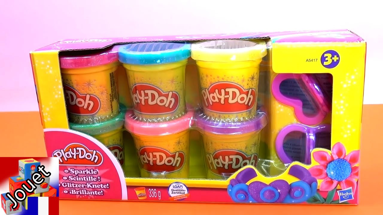 p te modeler paillettes play doh hasbro a5417eu4 unboxing demo youtube. Black Bedroom Furniture Sets. Home Design Ideas