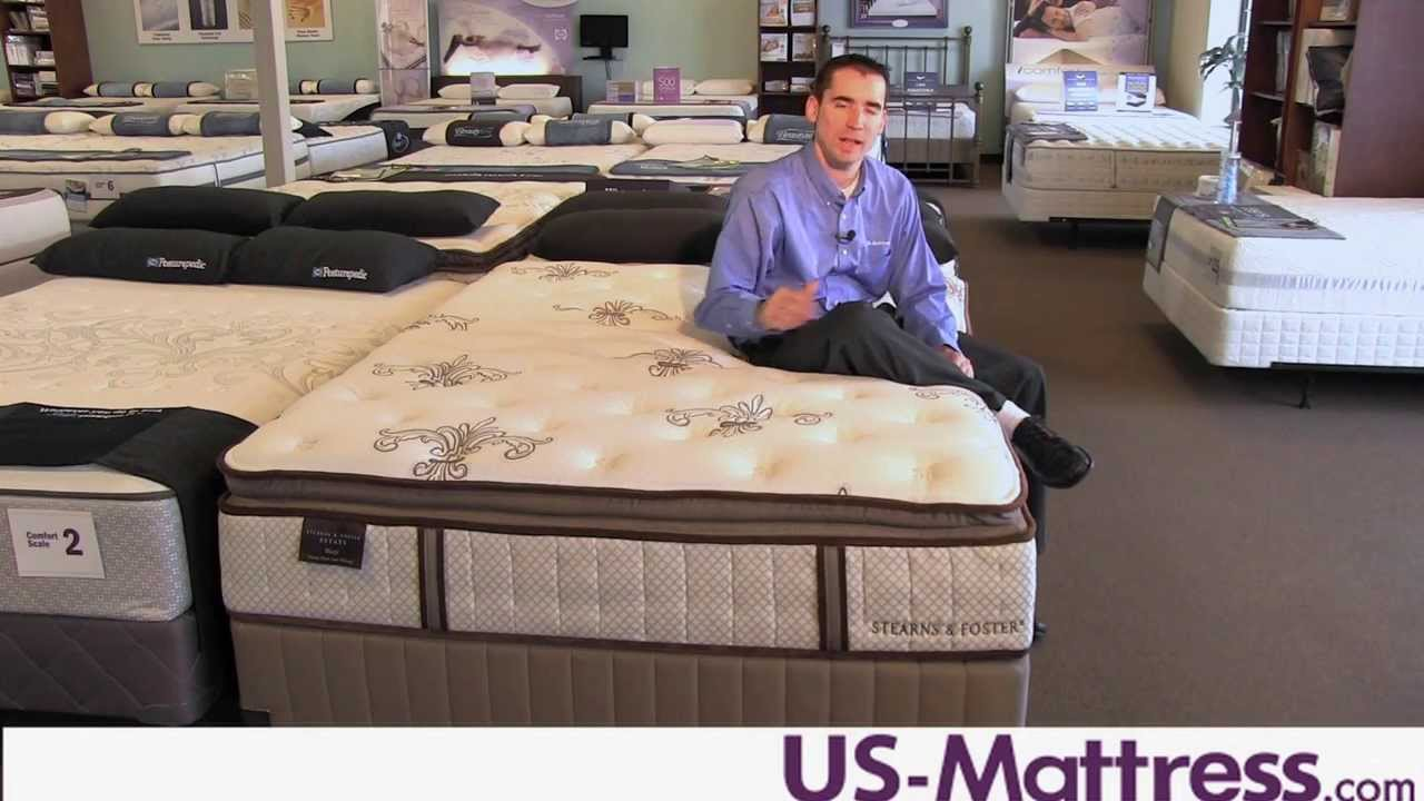 Stearns Foster Estate Mazie Luxury Plush Euro Pillowtop Mattress