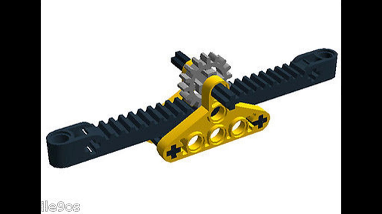 Rack And Pinion >> Lego Rack And Pinion Steering System Youtube