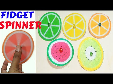 DIY FRUITS FIDGET SPINNER (Watermelon, Lemon, Kiwifruit) – How To Make a Paper FIDGET SPINNER.