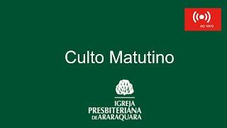 Culto Matutino - 20/09/2020