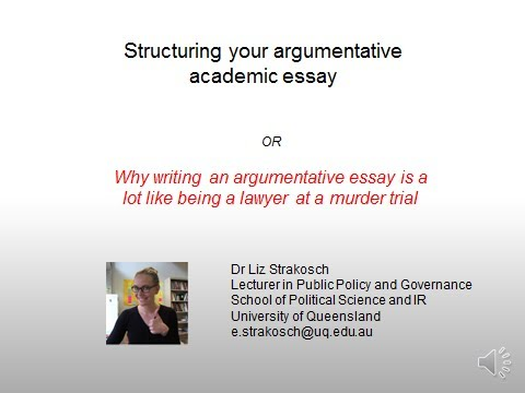 Argumentative Essay Writing For Policy And Political Science