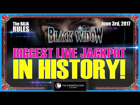 🕷💰 Biggest Live Jackpot In History | $600 A Pull | Black Widow @ The Cosmopolitan 🎰💣