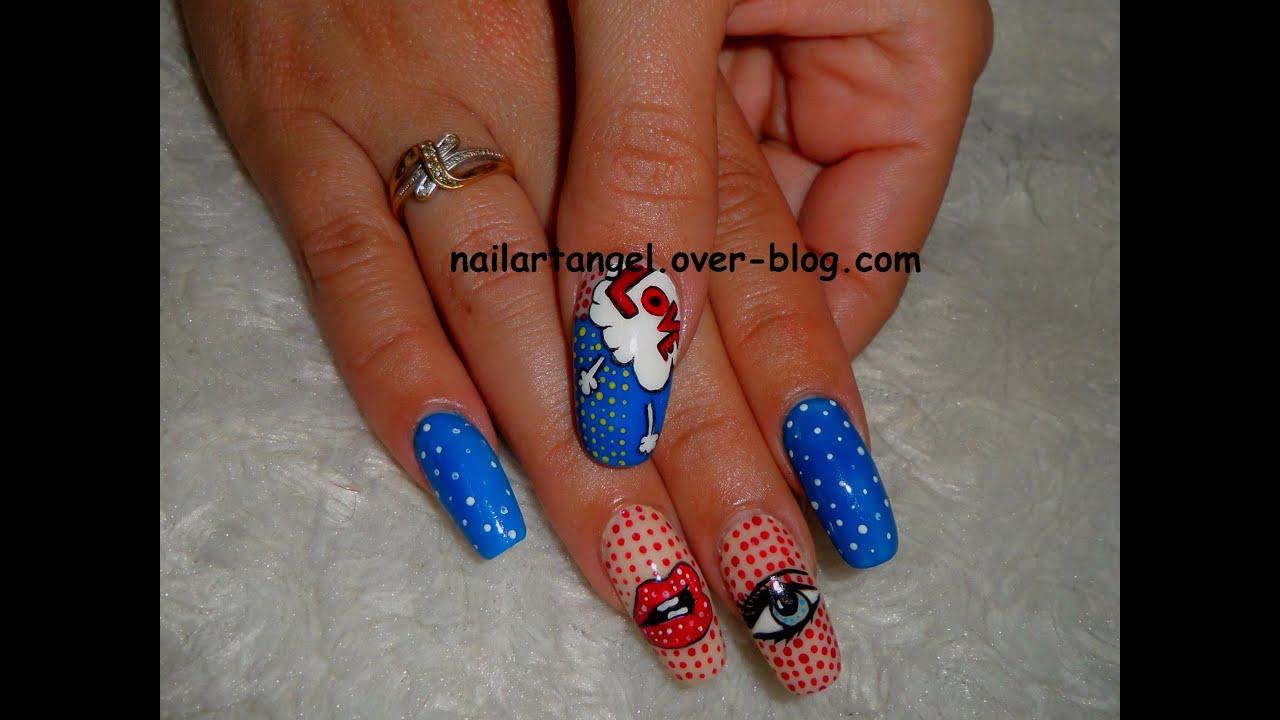 Nail art pop art nail art il pop nail art facile youtube nail art pop art nail art il pop nail art facile prinsesfo Choice Image