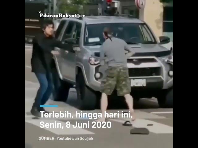 Weruh Riko, Video saat seorang Pria Asia Pukul 'KO' Warga AS yang bertindak agresif