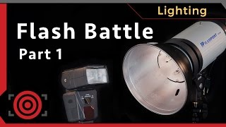 Speedlights vs Studio Strobes?  Which flash is better and why?  Strobist Photography Tutorial #2