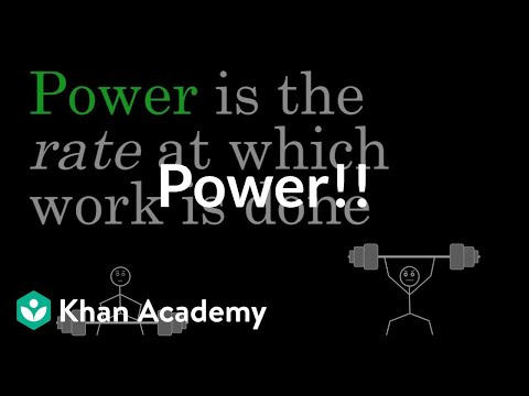 Power | Work and energy | Physics | Khan Academy