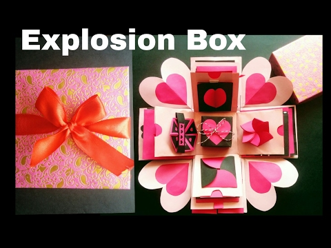 Explosion Box | DIY | Valentine's Day/ Anniversary Gift Idea | Valentine's Day Surprise Box