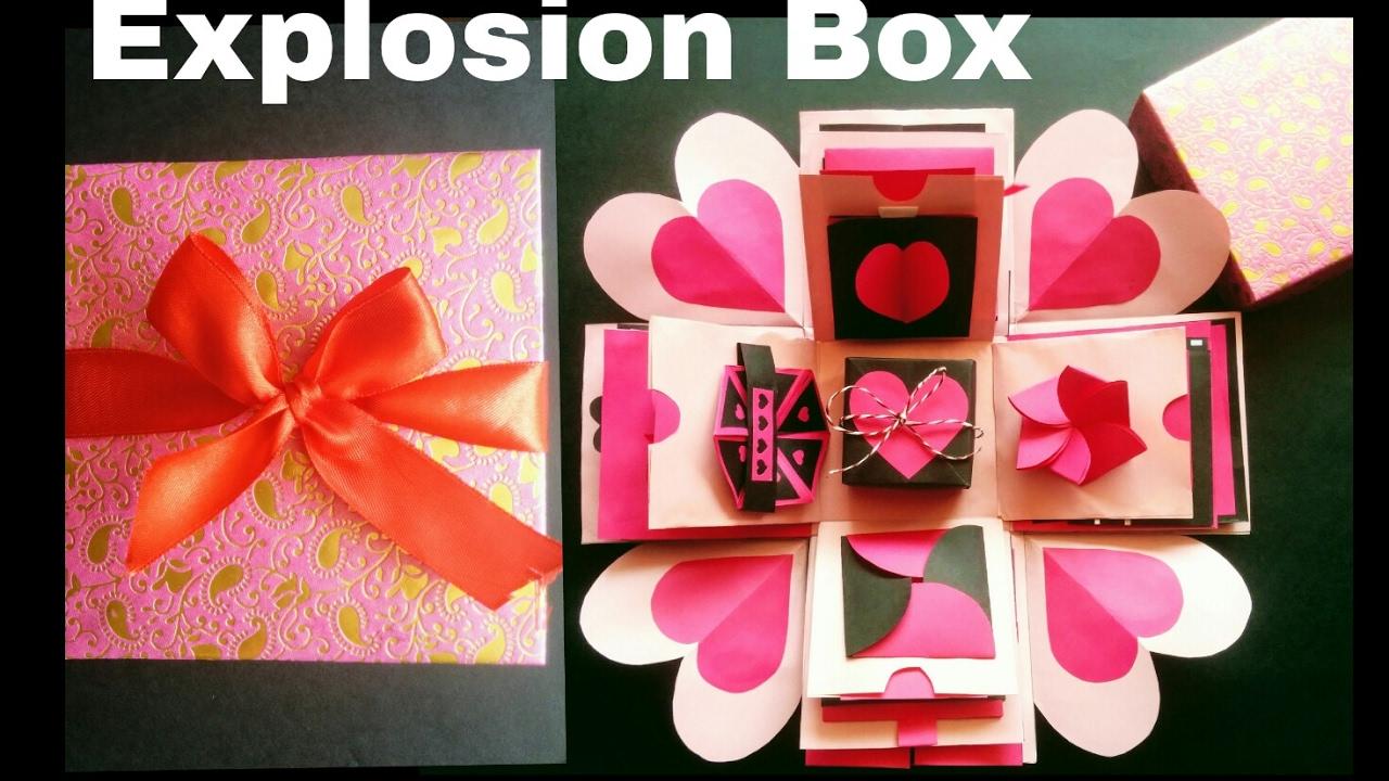 Explosion Box Diy Valentine S Day Anniversary Gift Idea