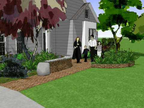 Landscaping Ideas | Sketchup | 3D Landscapes - YouTube