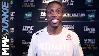 UFC 234: Jalin Turner full post-fight interview