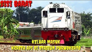 Keluar Masuk Kereta Api di Stasiun Purwokerto SISI BARAT