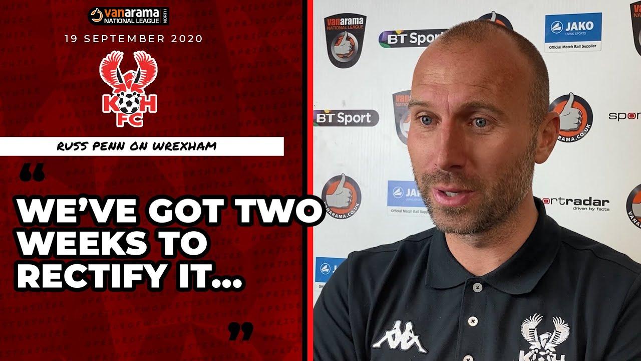 Russ Penn 19/09/20: Harriers v Wrexham post-match