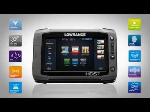 lowrance touch screen hds7 gen2 fishfinder chartplotter combo hds 7 gen 2 youtube. Black Bedroom Furniture Sets. Home Design Ideas