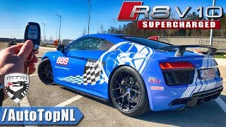 802HP Audi R8 V10 Plus SUPERCHARGED MTM | REVIEW POV on AUTOBAHN by AutoTopNL