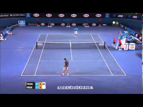 Pha xử lý bóng đầy chất nghệ sỹ của Federer
