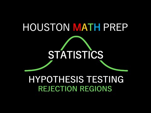 Hypothesis Testing - Rejection Regions