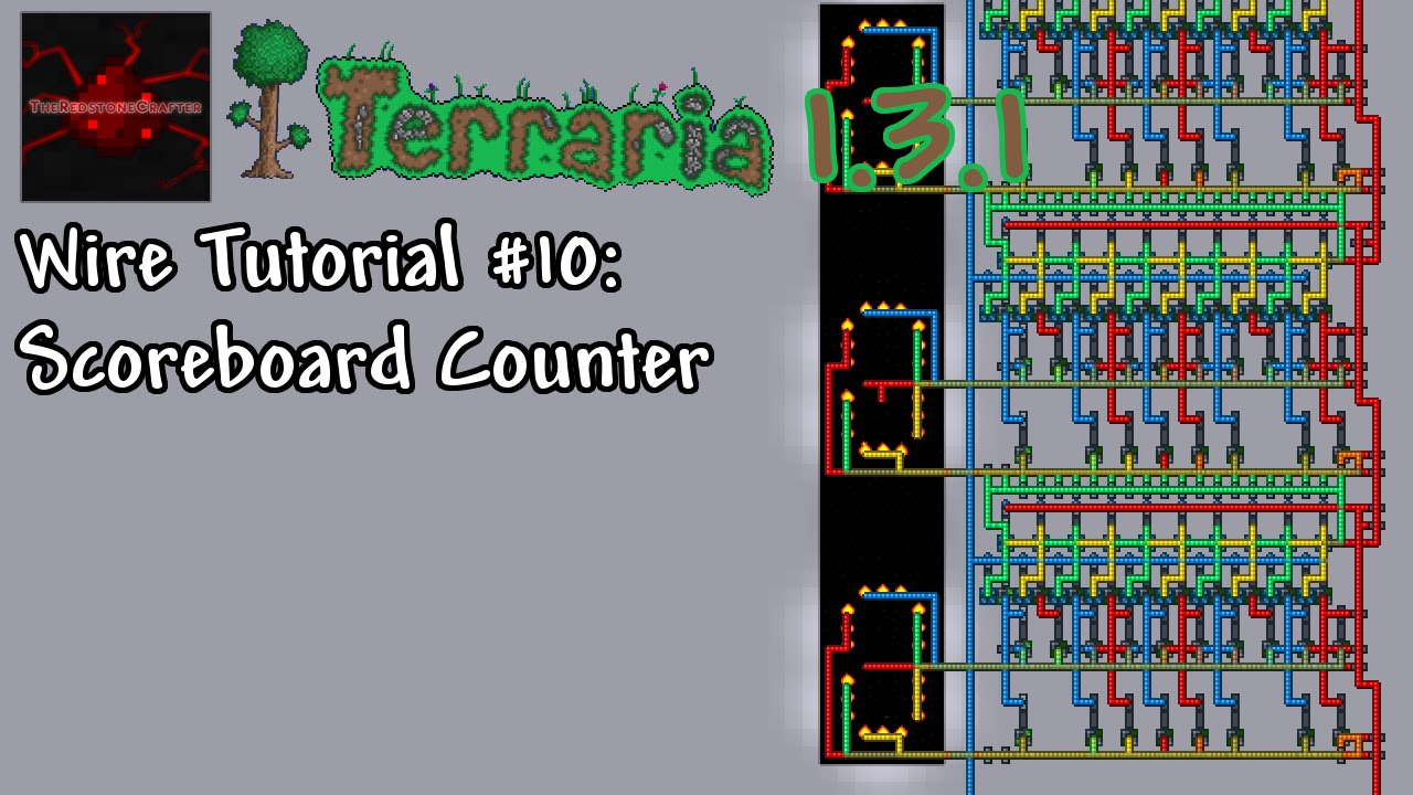 Terraria 1.3.1 Wire Tutorial #10 | Scoreboard Counter - YouTube