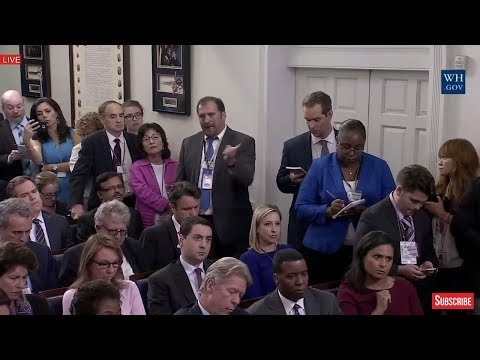 Thumbnail: HEATED: Reporter Attacks Sarah Sanders over FAKE NEWS at Sean Spicer Press Briefing 6/27/17 Trump